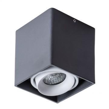 Потолочный светильник Arte Lamp Instyle Pictor A5654PL-1BK, 1xGU10x50W, черный, белый, металл