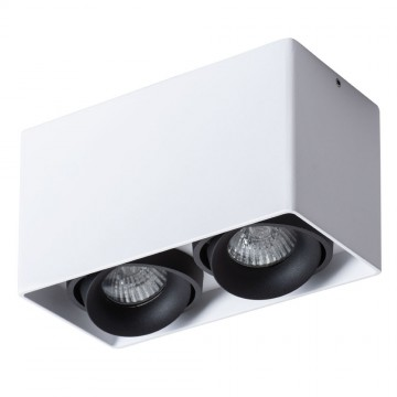 Потолочный светильник Arte Lamp Instyle Pictor A5654PL-2WH, 2xGU10x50W, белый, черный, металл