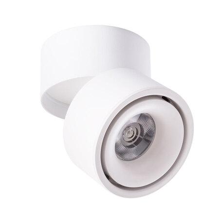 Потолочный светодиодный светильник с регулировкой направления света Arte Lamp Instyle Arcturus A7715PL-1WH, LED 15W 3000K 1000lm CRI≥80, белый, металл