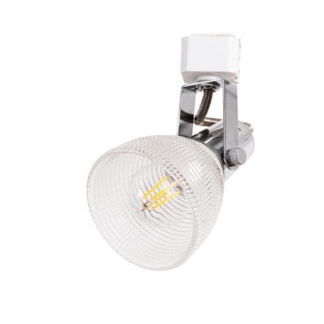 Светильник с регулировкой направления света для шинной системы Arte Lamp Instyle Ricardo A1026PL-1CC, 1xE14x40W, хром, прозрачный, металл, стекло