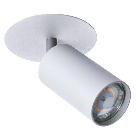 Встраиваемый светильник с регулировкой направления света Arte Lamp Instyle Cefeo A3214PL-1GY, 1xGU10x35W, серый, металл
