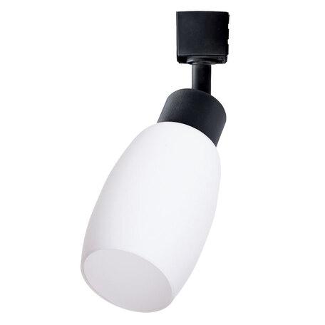 Светильник для шинной системы Arte Lamp Instyle Miia A3055PL-1BK, 1xE14x40W, черный, белый, металл, стекло