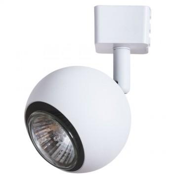 Светильник для шинной системы Arte Lamp Instyle Brad A6253PL-1WH, 1xGU10x35W, белый, черно-белый, металл