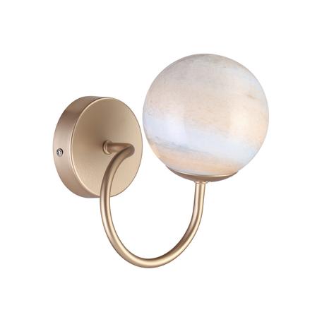 Бра Lumion Moderni Misty 4466/1W, 1xE14x40W, матовое золото, янтарь, металл, стекло