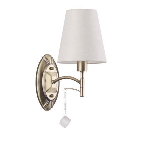 Бра Lumion Leah 4469/1W, 1xE14x40W, бронза, белый, металл, текстиль, стекло