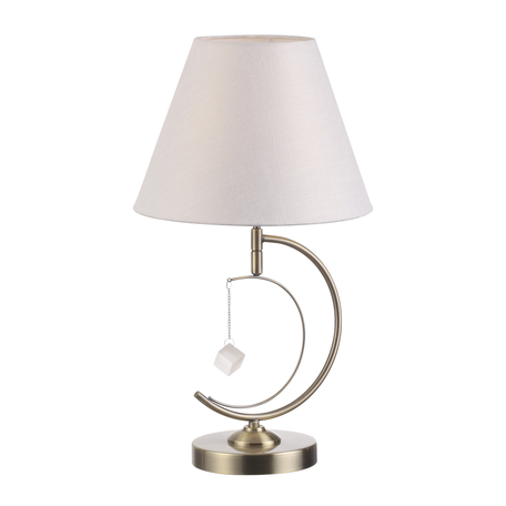 Настольная лампа Lumion Leah 4469/1T, 1xE14x40W, бронза, белый, металл, текстиль, стекло