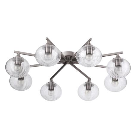 Потолочная люстра Lumion Cooper 4457/8C, 8xE27x60W, никель, прозрачный, металл, стекло
