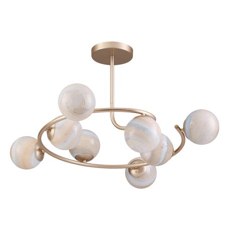 Потолочная люстра Lumion Moderni Misty 4466/8C, 8xE14x40W, матовое золото, янтарь, металл, стекло