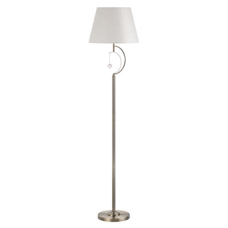 Торшер Lumion Neoclassi Leah 4469/1F, 1xE14x60W, бронза, белый, металл, текстиль, стекло