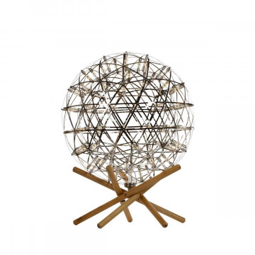 Светодиодный торшер Loft It Moooi Raimond 9027-43F, LED 27W 3000K, коричневый, хром, дерево, металл