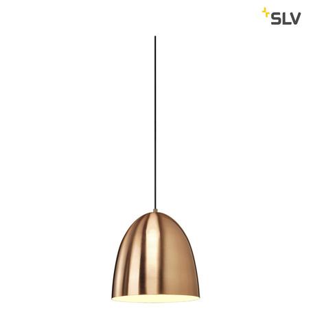 Подвесной светильник для шинной системы SLV 1PHASE-TRACK, PARA CONE 14 1001968, 1xGU10x35W, черный, медь