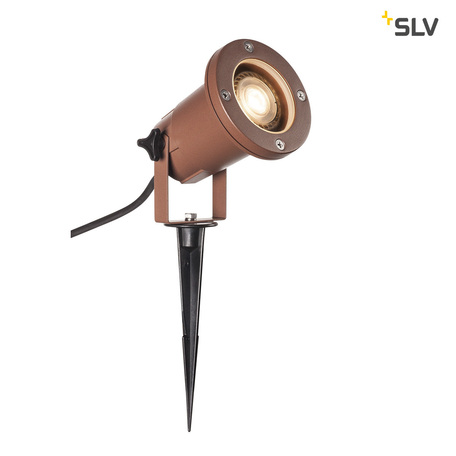 Прожектор SLV NAUTILUS 15 SPIKE 1001964, IP65, 1xGU10x11W, коричневый, металл