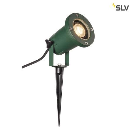 Прожектор SLV NAUTILUS 15 SPIKE 1001965, IP65, 1xGU10x11W, зеленый, металл