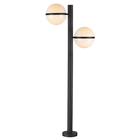 Уличный фонарь Odeon Light Nature Lomeo 4832/2F, IP44, 2xE27x10W, черный, белый, металл, пластик