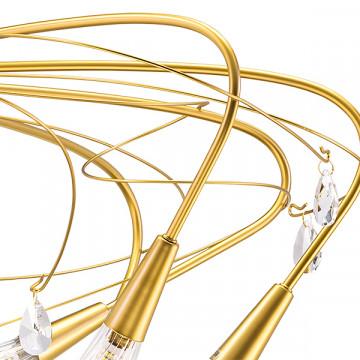Потолочная люстра Lightstar Aereo 711121, 12xG9x25W, матовое золото, прозрачный, металл, стекло, хрусталь - миниатюра 5