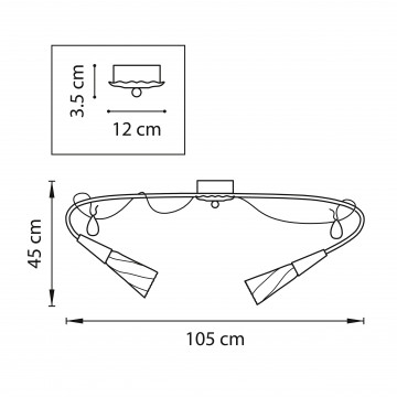 Схема с размерами Lightstar 711121