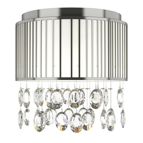 Потолочная люстра Lightstar Cappe 745094R, 9xG4x20W, хром, белый, прозрачный, металл, металл с пластиком, хрусталь