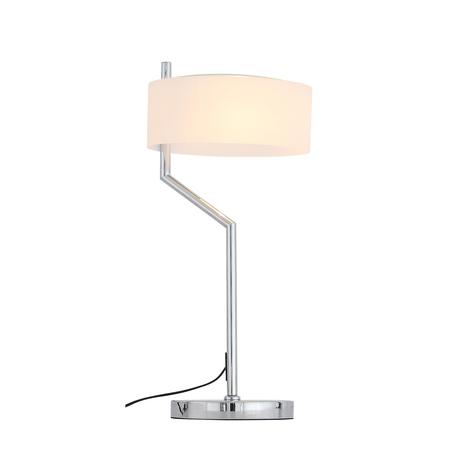 Настольная лампа ST Luce Foresta SL483.504.01, 1xE27x60W, хром, белый, металл, пластик
