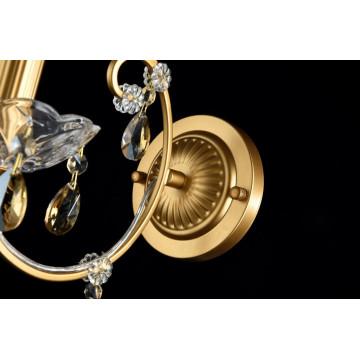 Бра Maytoni Sevilla DIA004-01-G, 1xE14x60W, золото, коньячный, металл со стеклом, хрусталь - миниатюра 4
