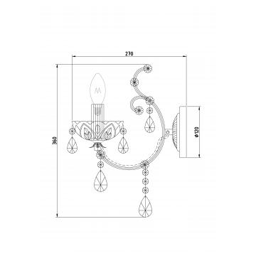Схема с размерами Maytoni DIA004-01-G