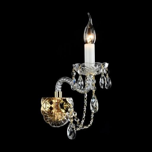 Бра Maytoni Beatrix DIA019-01-G, 1xE14x60W, золото, прозрачный, стекло - фото 1