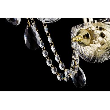 Бра Maytoni Beatrix DIA019-01-G, 1xE14x60W, золото, прозрачный, стекло - миниатюра 4