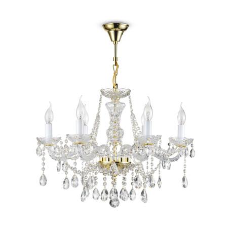 Подвесная люстра Maytoni Beatrix DIA019-06-G, 6xE14x60W, золото, прозрачный, стекло, хрусталь