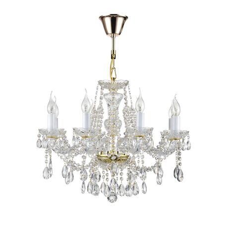 Подвесная люстра Maytoni Royal Classic Beatrix DIA019-08-G, 8xE14x60W, золото, прозрачный, стекло с металлом, хрусталь