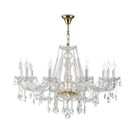 Подвесная люстра Maytoni Beatrix DIA019-10-G, 10xE14x60W, золото, прозрачный, металл, стекло