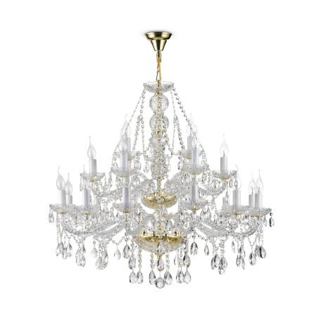 Подвесная люстра Maytoni Beatrix DIA019-21-G, 21xE14x60W, золото, прозрачный, стекло, хрусталь