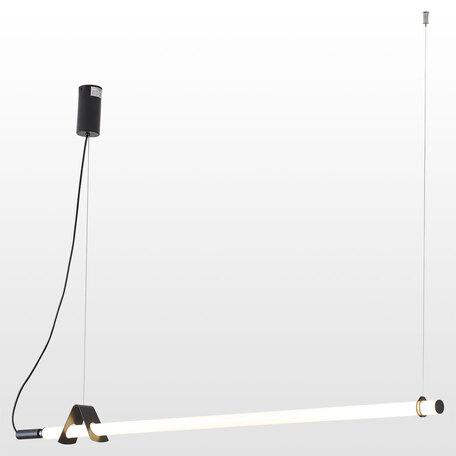 Светодиодный светильник Lussole Loft Pickens LSP-8394, IP21, LED 100W 3000K, черный, белый, металл, пластик