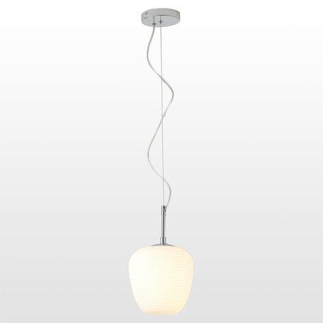 Светильник Lussole Loft Limestone LSP-8400, IP21, 1xE27x40W, хром, белый, металл, стекло