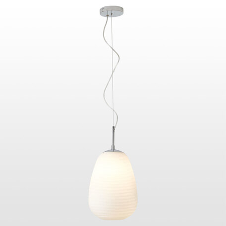 Светильник Lussole Loft Limestone LSP-8401, IP21, 1xE27x40W, хром, белый, металл, стекло