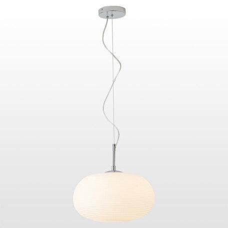Светильник Lussole Loft Limestone LSP-8402, IP21, 1xE27x40W, хром, белый, металл, стекло