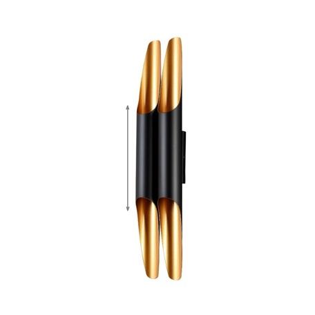 Настенный светильник Crystal Lux CLT 332W4-V2 BL-GO 1401/488, 4xGU10x50W, черный, металл