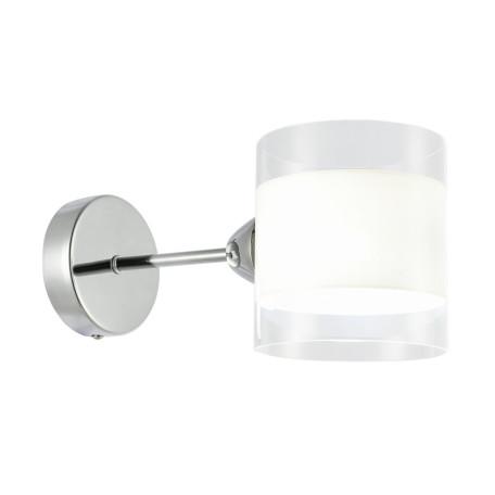 Бра Evoluce Miento SLE102801-01, 1xE14x40W, хром, белый, металл, стекло