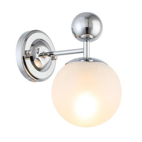 Бра Evoluce Pechio SLE106101-01, 1xE14x60W, хром, белый, металл, стекло