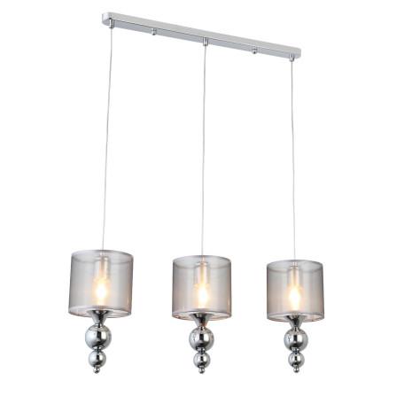 Подвесной светильник Evoluce Pazione SLE107103-03, 3xE27x40W, хром, серебро, металл, текстиль