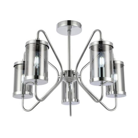 Потолочная люстра Evoluce Valieri SLE102302-05, 5xE14x40W, хром, дымчатый, металл, стекло