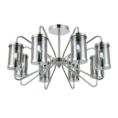 Потолочная люстра Evoluce Valieri SLE102302-08, 8xE14x40W, хром, дымчатый, металл, стекло
