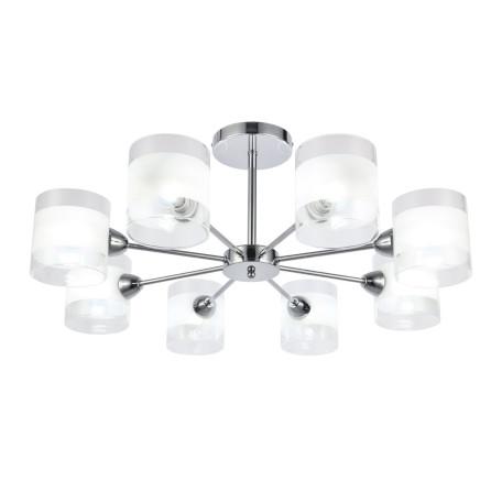Потолочная люстра Evoluce Miento SLE102802-08, 8xE14x40W, хром, белый, металл, стекло