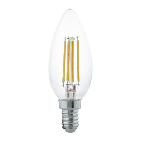 Филаментная светодиодная лампа Eglo 11496 свеча E14 4W, 2700K (теплый) CRI>80, гарантия 5 лет