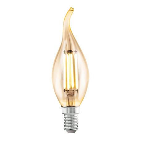 Филаментная светодиодная лампа Eglo 11559 свеча на ветру E14 4W, 2200K (теплый) CRI>80, гарантия 5 лет