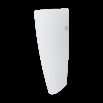 Настенный светильник Eglo Nemo 83119, 1xE27x60W, никель, белый, металл, стекло