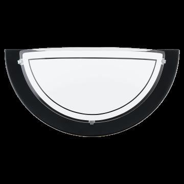 Настенный светильник Eglo Planet 1 83161, 1xE27x60W, черный, матовый, металл, стекло