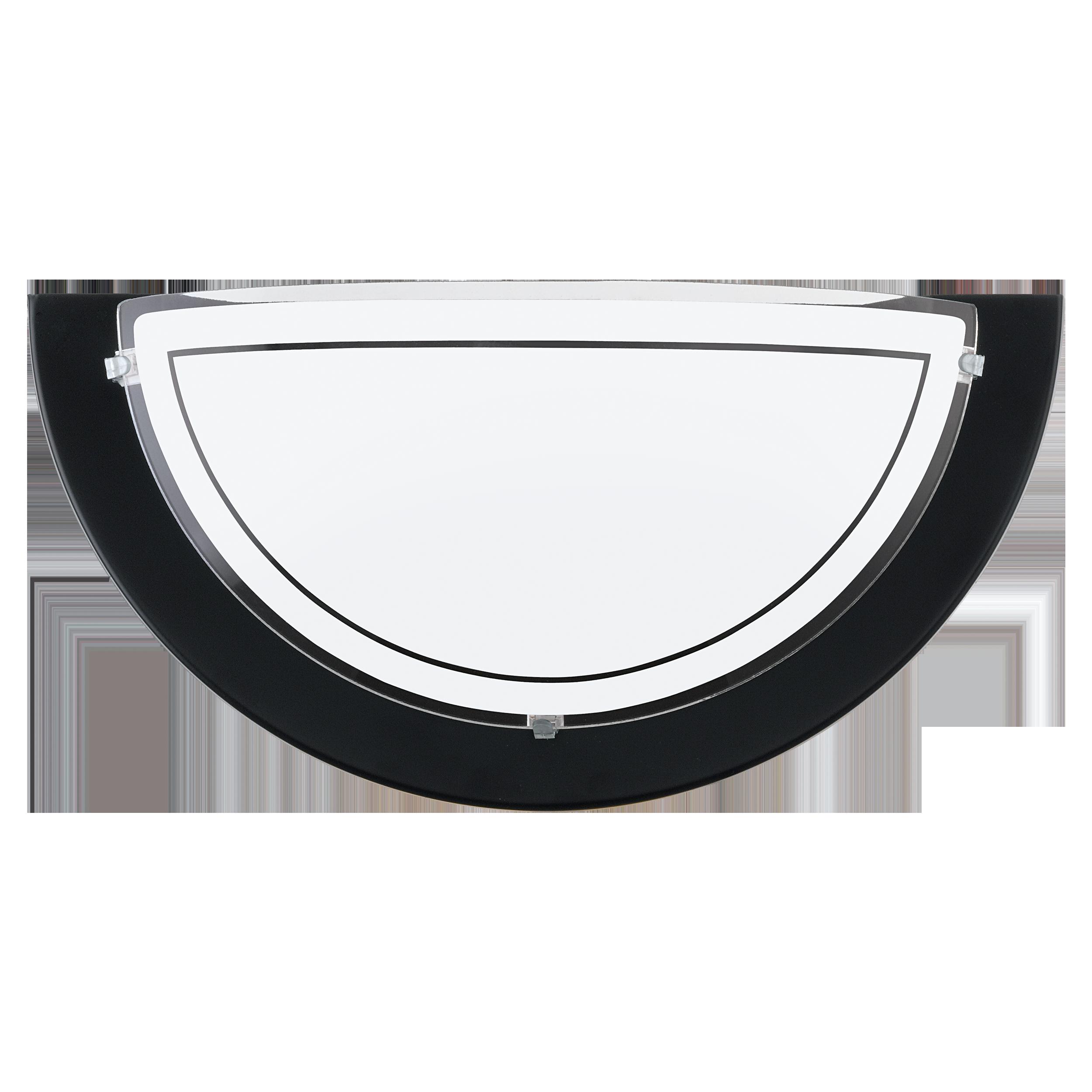 Настенный светильник Eglo Planet 1 83161, 1xE27x60W, черный, матовый, металл, стекло - фото 1