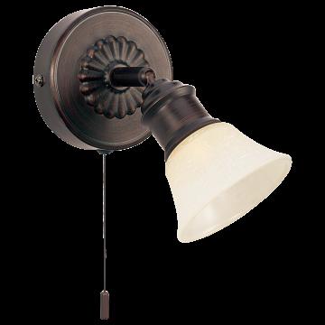 Настенный светильник с регулировкой направления света Eglo Alamo 89057, 1xG9x33W, коричневый, бежевый, металл, стекло