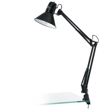 Настольная лампа Eglo Firmo 90873, 1xE27x40W, черный, металл