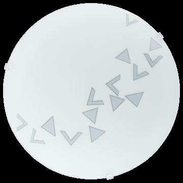 Потолочный светильник Eglo Mars 80263, 1xE27x60W, белый, металл, стекло - миниатюра 1
