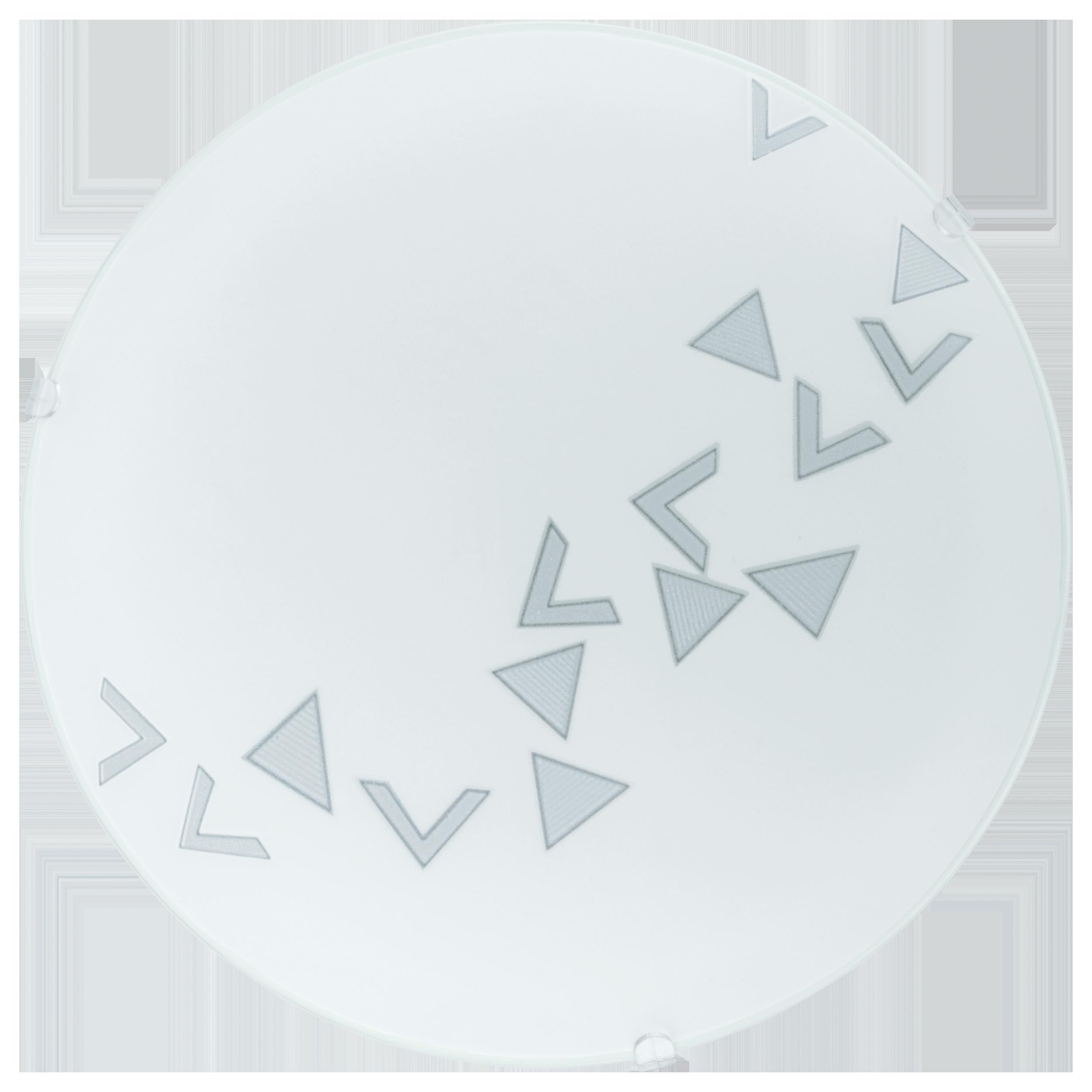 Потолочный светильник Eglo Mars 80263, 1xE27x60W, белый, металл, стекло - фото 1